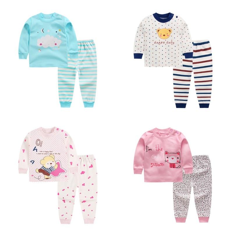 Pants Cotton Baby Pajamas Sleepwear 2Pcs//Set Kids Baby Boys Girls Clothes Top