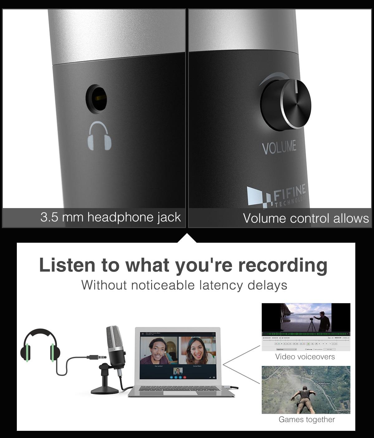 FIFINE Uni-Directional USB Microphone 2