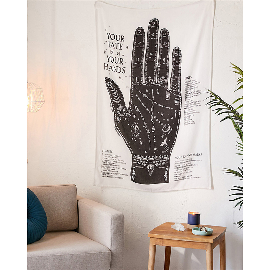 Tapestry Wall Hanging Palmistry Coffee Tarot Tapiz Wall Fabric Carpet Pink Boho Decor Ouija Witchcraft Wall Cloth Tapestries Rug