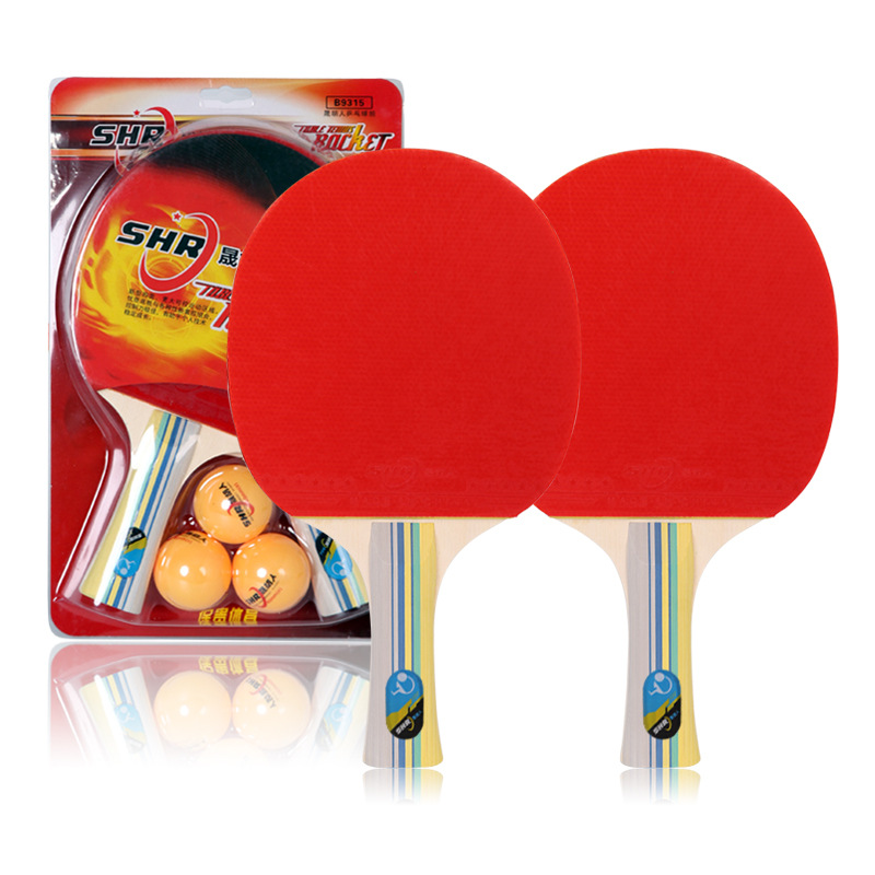 Sheng Hu People Genuine Product Table Tennis Racket Beginners Table Tennis Finished Product Penhold Horizontal Position Students