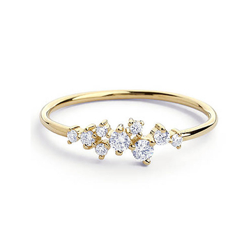 New Fashion Simple Crystal Brand Rings For Women Gold/Silver Color Female Ring Party Wedding Jewelry image
