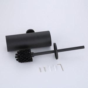 Image 5 - אמבטיה אסלת מברשת בעל מאט שחור, 304 נירוסטה אסלת מברשת קיר רכוב לאמבטיה אחסון וארגון