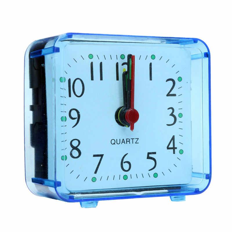1 PCS חמוד אופנה קטן מיטה קומפקטי נסיעות קוורץ ביפ שעון אופנה ארנב מנורה שליד המיטה ירוק סוללות מוסיקה ערכת אזעקה שעון