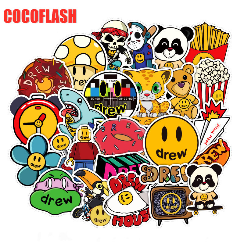 10/50PCS/pack Singer Justin Bieber Drewhouse Sticker Pack For PC Suitcase Laptop Motorcycle Styling Cool Cartoon Stickers
