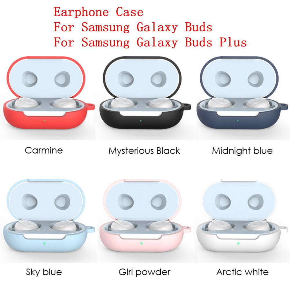 Protective Case Cover For Samsung Galaxy Buds 2019 Earphone Silicone Shockproof Case And Carabiner For Galaxy Buds Plus 2020 New
