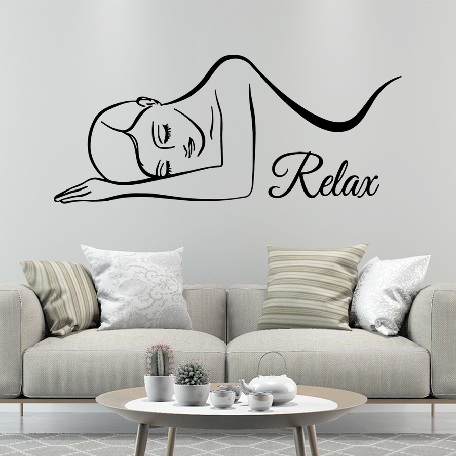 Wall Stickers Pvc Decals For Salon Spa