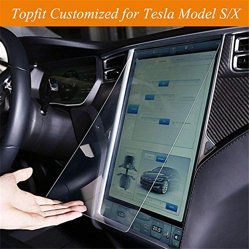 For Tesla Model X Model S Center Control Touchscreen Car Navigation Touch Screen Protector 17 Inch Protective Films