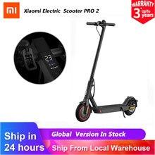 Version mondiale Xiaomi Mi Scooter électrique Pro 2 planche à roulettes pliable légère 25km/h 45kmDistance système ABS 12800mAh batterie