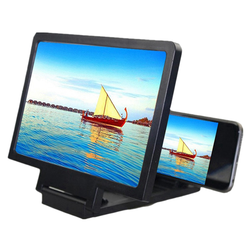 Screen Magnifier 3D Smart Mobile Phone Movies Amplifier Anti-Radiation Screen with Phone Holder for Any Smartphone