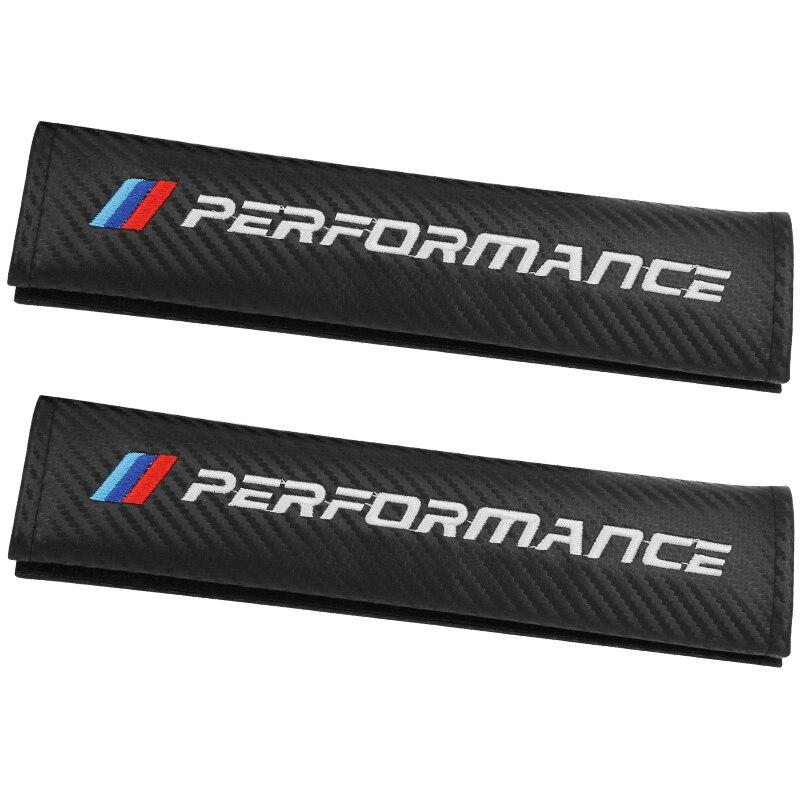 2pcs Car accessories Seat Belt Shoulder Pad Carbon Fiber Cloth Shoulder Protective Cover Seat Belt Cover For BMW E90 E91 E92 E53