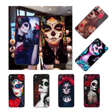 NBDRUICAI Catrina beautiful rose girl Skull Art Phone Case for Xiaomi Redmi Note 8 8A 7 6 6A 5 5A 4 4X 4A Go Pro Plus Prime(China)