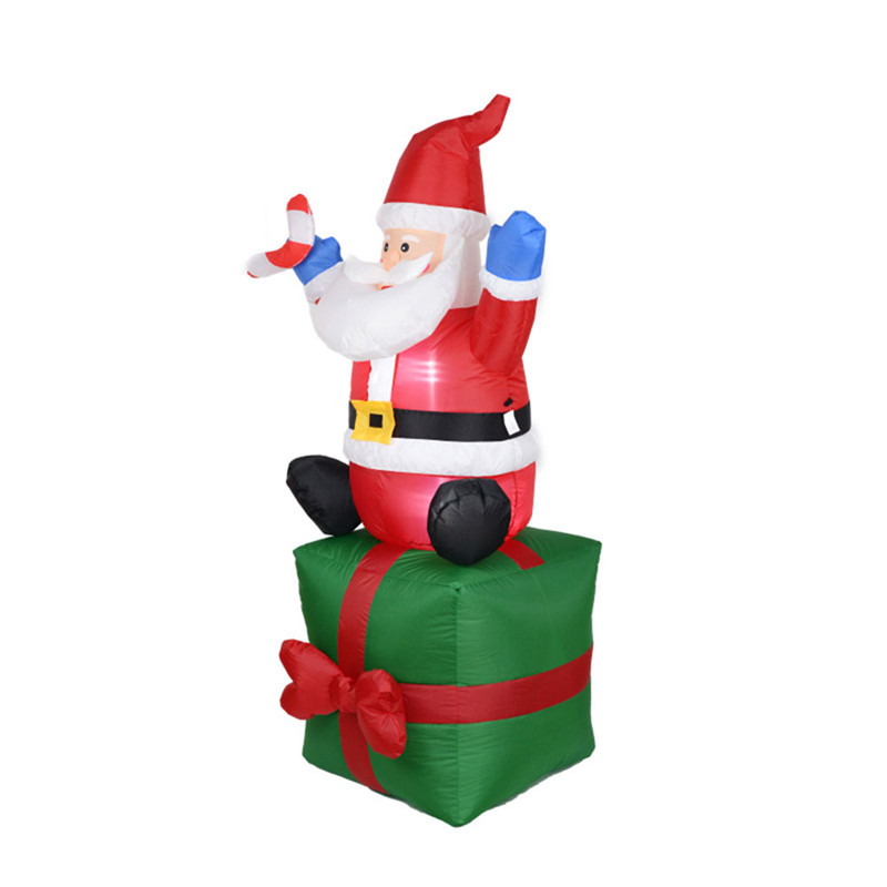 Inflatable Santa Claus Light Christmas Decoration Garden Inflatable Toys Outdoor Toys Christmas Indoor Outdoor Decoration 180cm