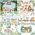 Yeele джунгли Животные фон ребенок день рождения сафари баннер фотозонт персонализированные детские фотографический фон для фотостудии