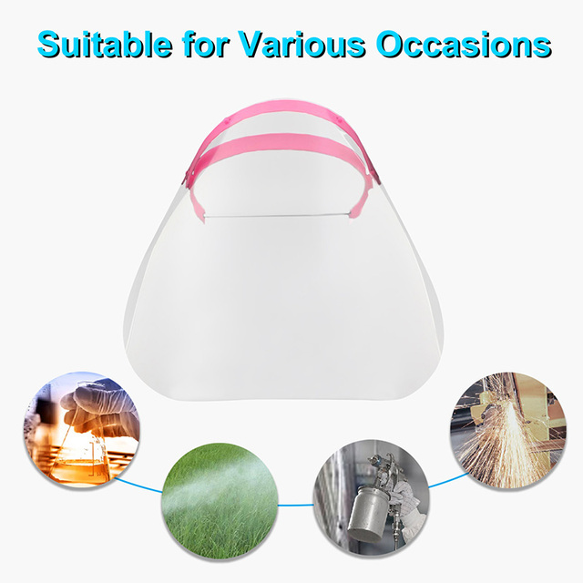 Anti-Saliva Dustproof Protective Isolation Mask Transparent Safety Face Shield Cover Spare Visors Head Full Facial Protection 3