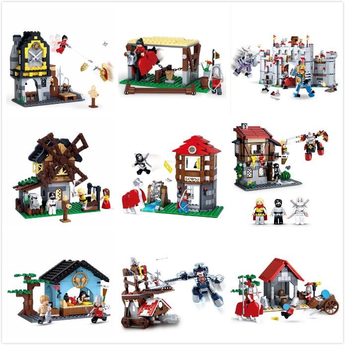 Sluban 877Pcs Knight Armor Medieval Castle Series Mode Bricks LegoINGLs Building Blocks Sets Toys For Children Christmas Gifts