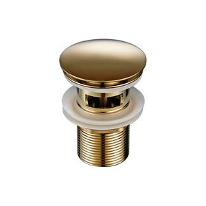 Image 2 - Smesiteli Bagno di Scarico Lucido Oro In Acciaio Inox Tubo di Acqua Filettato Perforato Cucina Lavello Spina