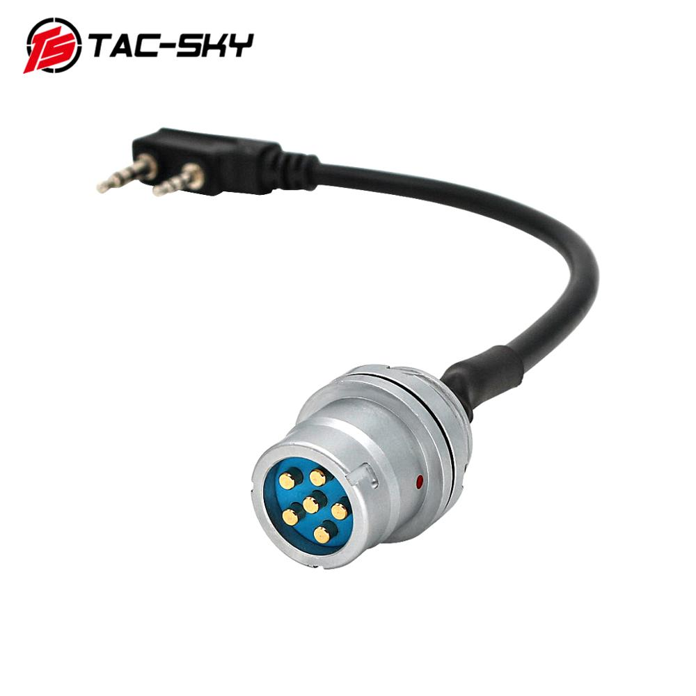 TAC-SKY U 283 U-283 / U 6-pin Plug To Kenwood Socket Adapter For AN / PRC 148 152 152A Walkie-talkie DIY Connector