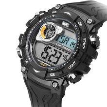 Marvel marvel homem de ferro relógio 100 m à prova dwaterproof água relógio esportivo novo estilo tendência legal relógio eletrônico 498