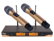 New 200 Channels Professional Dual Channel  Wireless Handheld Microphone System Karaoke Performance Party Mic цена