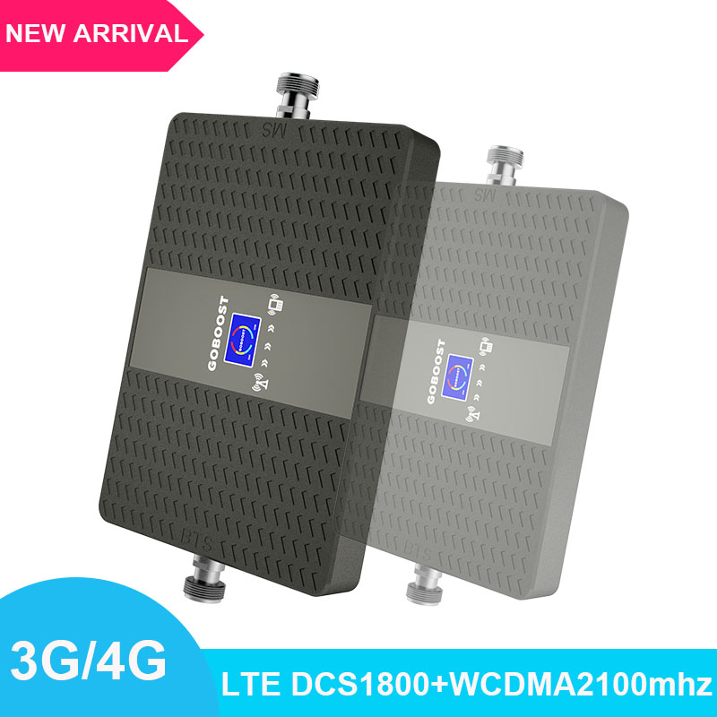 4G Mobile Signal Amplifier Network LCD Display DCS1800+WCDMA2100mhz Mobile Signal Booster 70dB Dual Band Signal  Repeater