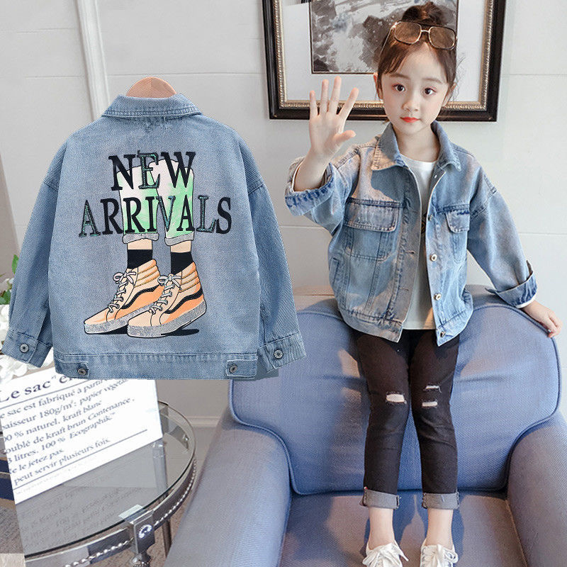 Kids Jacket Spring Printing Baby Girls Jeans Jacket Autumn Denim Jacket For Baby Boys Coat Baby Outerwear Clothes 3 8 10 12 Year