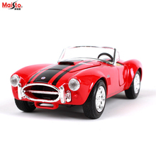 Maisto 1:24 1965 Shelby Cobra Racing Convertible alloy car model simulation decoration collection gift toy