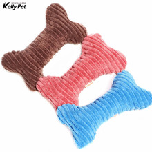 купить Pet Dog Toys Cute Strip Plush Pet Dog Cat Sound Squeakers Squeaky Toy for Small Dog Puppy Chew Play Bone Toy Pet Product по цене 102.3 рублей
