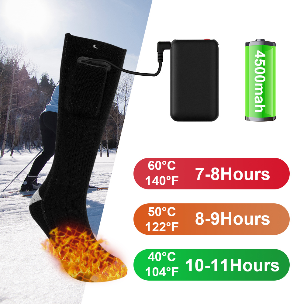 1 Pair Men Woman Socks Heating Sock Three Modes Modal Winter Thermal Heated Socks Thicken Super Soft Socks Keep Foot Warm
