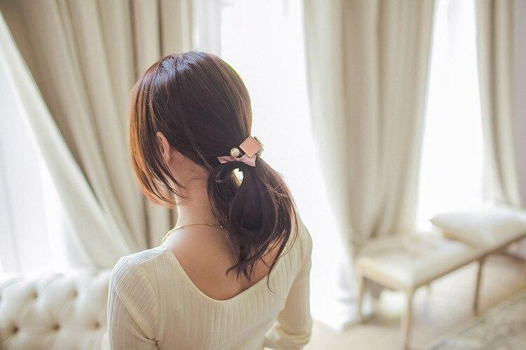 fita bowknot quadrado pingente faixa de cabelo
