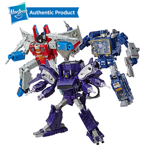 Image 1 - Hasbro Transformers Cybertron Voyager WFC S24 Decepticons Starscream Soundwave 모델 키즈 완구 액션 피규어