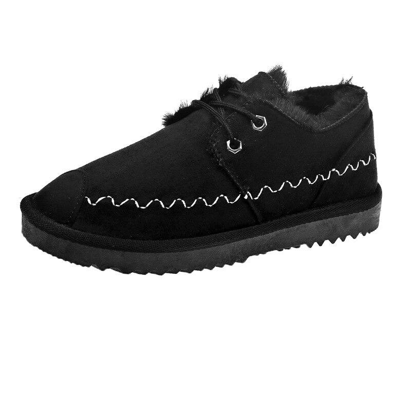 2019 New Snow Boots Female Short Tube Bread Cotton Shoes Women's Winter Plus Velvet Warm Fashion Casual Boots 45