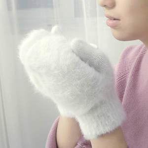 SFur Gloves Mittens F...