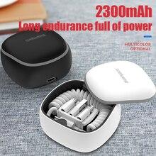 Garas PowerBank PD/QC3.0 dla Micro USB/rodzaj USB C ładowarka dla mini zewnętrzna ładowarka USB kabel sprężynowy