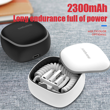 Garas PowerBank PD/QC3.0 para Micro USB/USB tipo C, cargador de batería externo, Cable de resorte