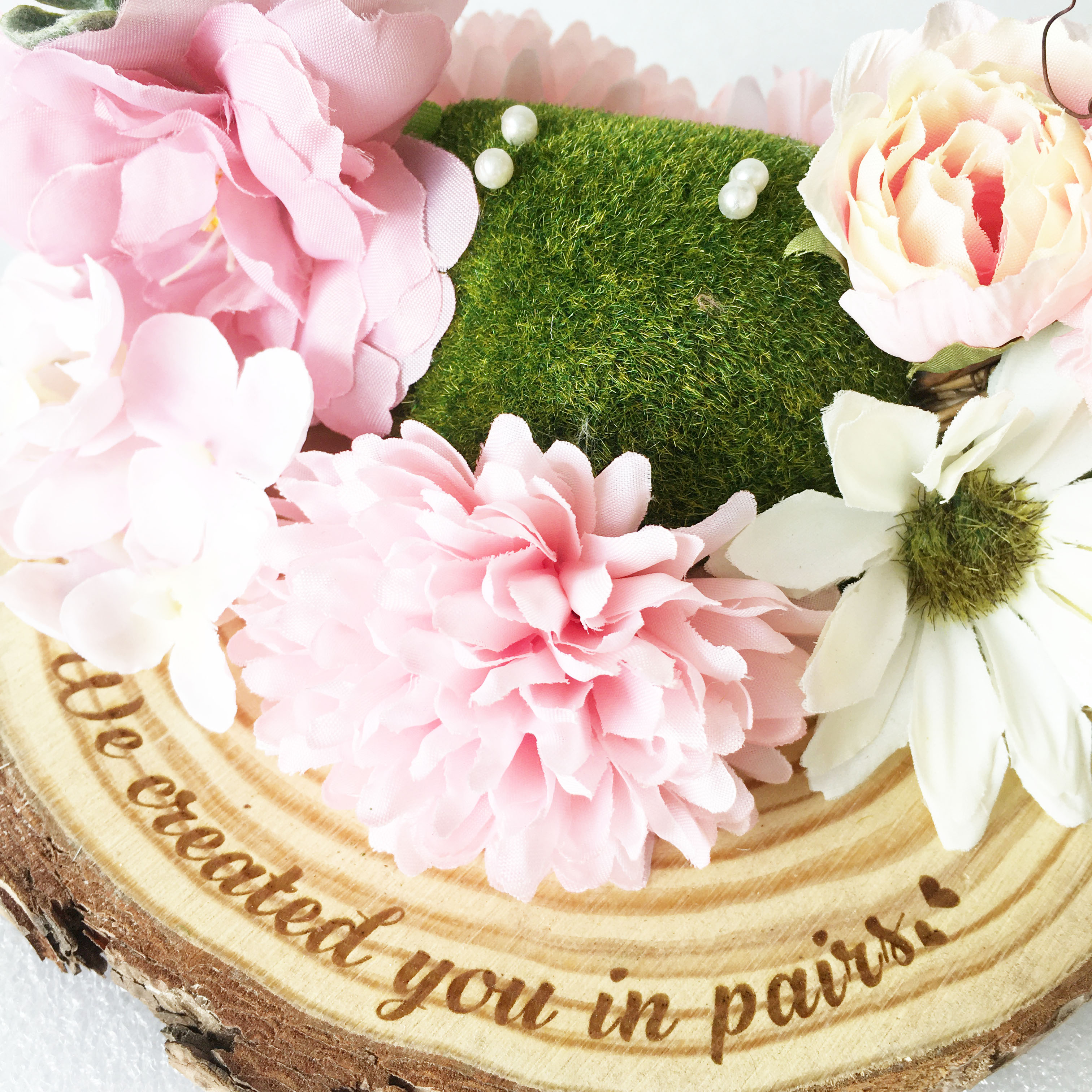 Enagagement 1Pcs Props For Groom Any Party Custom Pink Rustic Marriage Wedding Lot Bride Photo Decorations Ring Wreath Language
