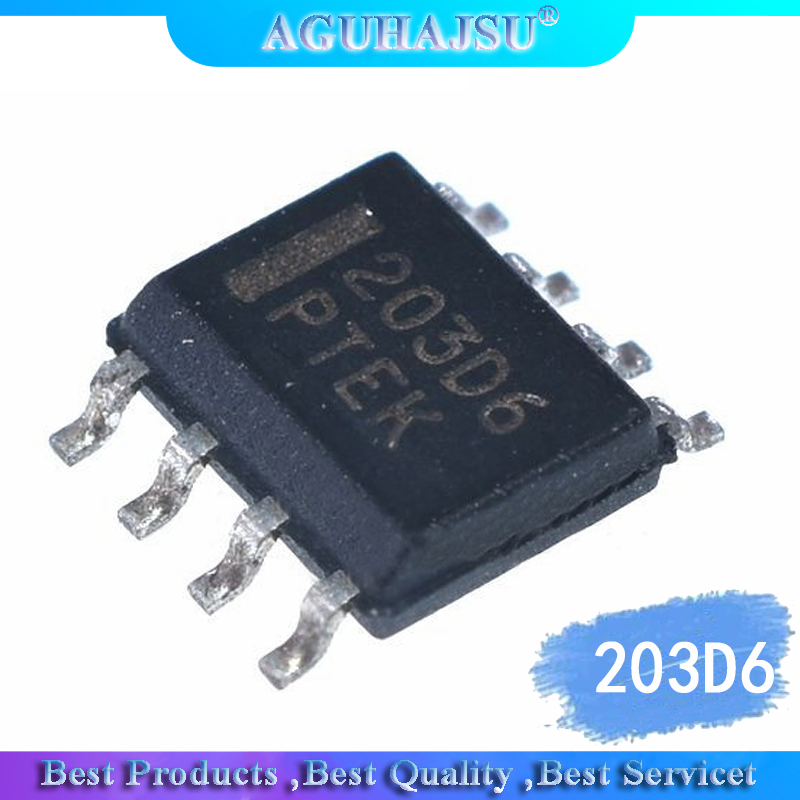 1PCS  203D6 NCP1203D60 LCD  Patch 8 Feet Repairs Necessary 203D6   Original