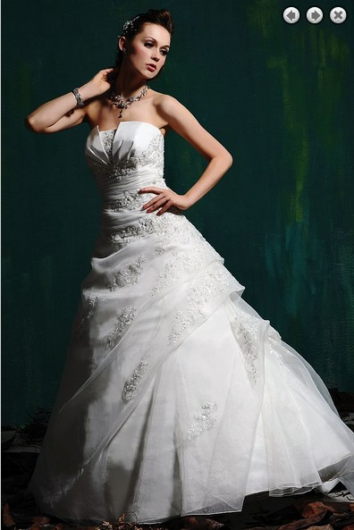 Free Shipping Ball Gown Custom 2018 New Fashion Bridal Gown Plus Size Sweetheart Lace Appliques Organza Beaded Bridesmaid Dress