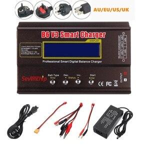 Image 1 - B6 v3 80w 6a lipo bateria balance carregador descarregador versão de atualização com adaptador de alimentação
