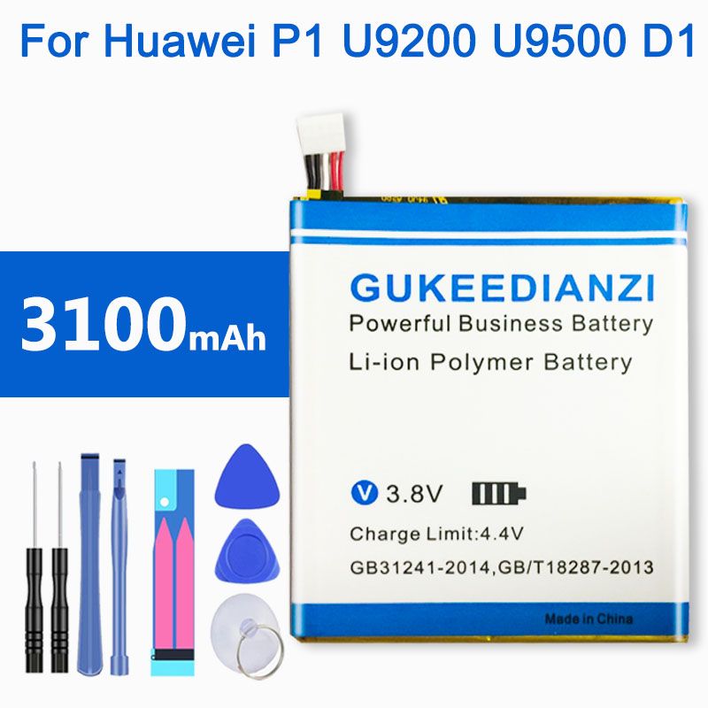 3100mAh Powerful HB4Q1HV For Huawei Ascend P1 U9200 T9200 U9500 D1 Mobile Phone Replacement Battery(China)