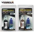 Visbella 2 قطعة طقم تصليح الجلد السائل مرمم السيارات مقعد السيارة أريكة ثقوب خدش الشقوق مزق الجلد نظافة أداة اليد