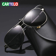 CARTELO Change Color Sun Glasses Vision Driver's Eyewear Day and night Sunglasses Men Polarized Driving Chameleon Glasses Male