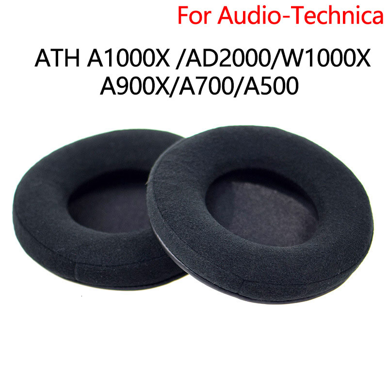 Ear Pads For Audio-Technica ATH A900x AD700X AD500x <font><b>AD2000</b></font> Ad1000x Headphones Replacement Ear Cushion Cover Velvet or Leather image