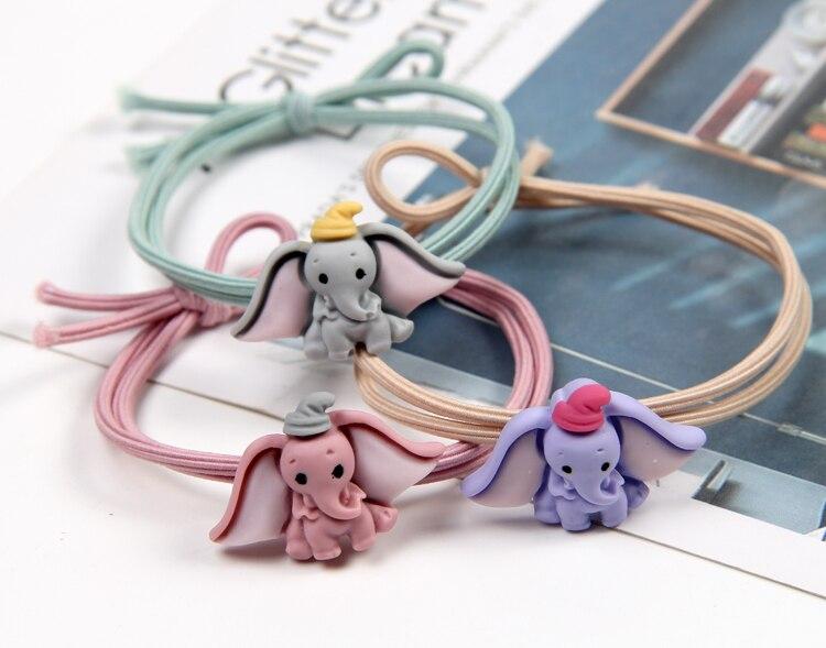 Cute Hair Accessories Dumbo Ost Headband Girls Scrunchies Elastic Hair Bands Rubber Rope Headdress Elephant Hairband Ornaments