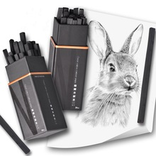20pcs/set of sketch carbon rods new 3-9mm square cotton willow charcoal strips sketch carbon pen painting art supplies