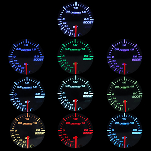 """Image 5 - 2"""" 52mm 12v Universal 10 Color LED Racing Turbo Boost Gauge RPM Tachometer Water Oil Temperature Meter Red Pointer With Sensor"""