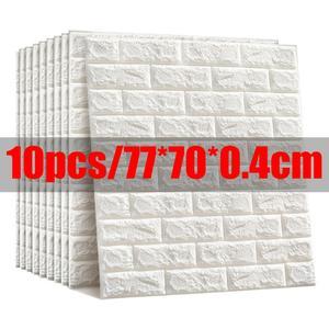 Wall-Sticker Backdrop-Decor TV Imitation-Brick Living-Room Self-Adhesive 3D Kitchen Waterproof
