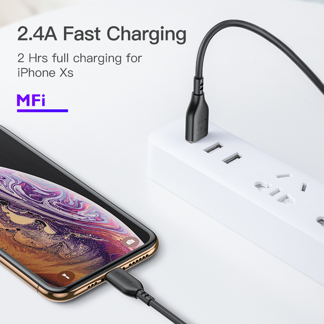 KUULAA MFi Lightning Cable For iPhone 12 11 Pro Max X XS 8 7 6 Plus Fast Charging USB Charger For iPhone 12 mini USB Charge Cord