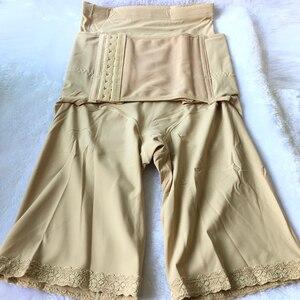 Image 5 - women high waist panty hook eye waist Colombian girdle butt lifter Soft silky panties postpartum body shaper fat burn boy Shorts