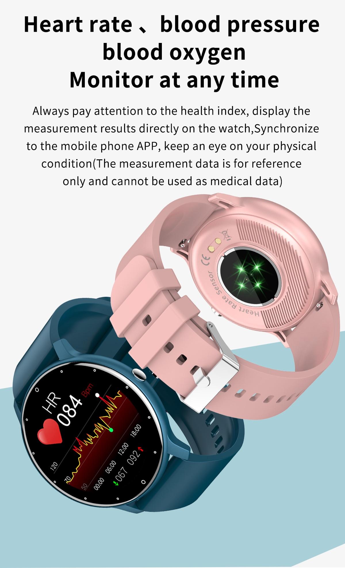 H3c98016e21b44c919aa6390496b9b21e0 LIGE 2021 Fashion Smart Watch Men Fitness Bracelet Heart Rate Blood Pressure Monitoring Sports Tracker Smartwatch Gift for Women
