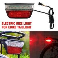 6-80V Elektrische Fahrrad Licht für Ebike Rücklicht Hinten Elektrische Roller Fahrrad Hinten Liche Licht Bremse Nacht Sicherheit radfahren Teile